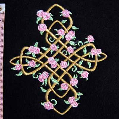 Celtic Cross with Roses