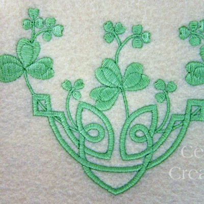 Celtic Knot Shamrock Spray