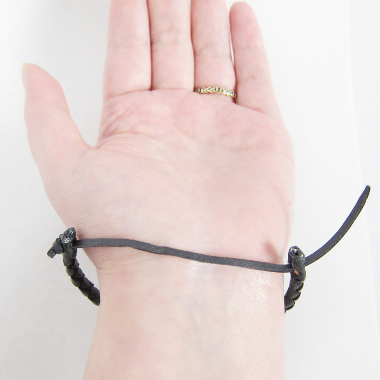 How To Tie A Celtic Leather Bracelet By